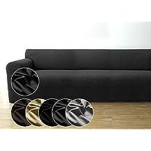 Funda de sofá Bellboni, forro de sofá, funda ajustable bielástica, apta para muchos sofás normales de 3 plazas, antracita