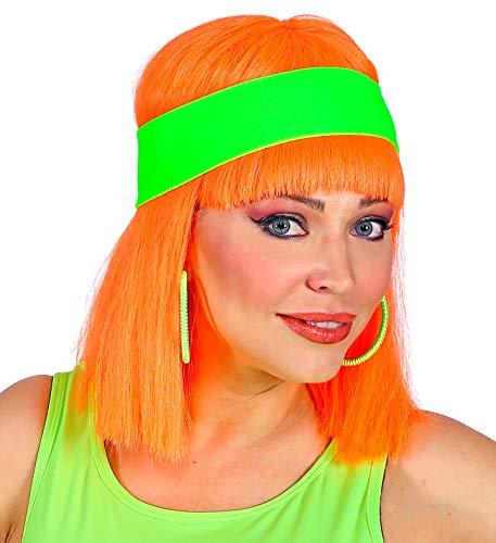 shoperama 80er Jahre Neon Stirnband 80`s Trash Kostüm-Zubehör Aerobic Gymnastik Sport, Farbe:Grün