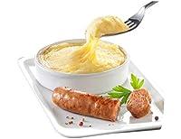Aligot et saucisse de l'Aveyron est un plat complet pour 1 personne, prêt en quelques minutes aux micro-ondes. Plat individuel composé de véritable aligot à base de tome fraîche et de saucisse supérieure 100% viande de porc origine France.Valeurs éne...
