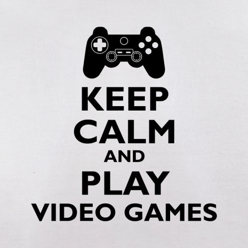 Keep Calm and Play Video Games - Herren T-Shirt - 13 Farben Weiß