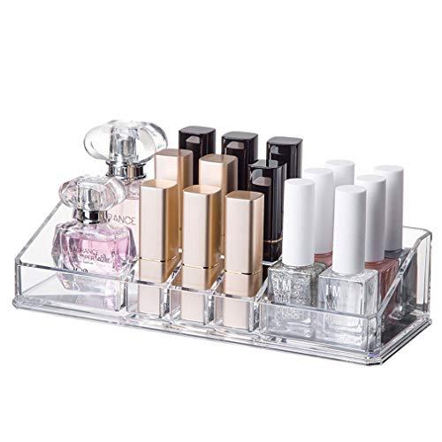 Boîte de Rangement de Maquillage Claire Cosmétique Organisateur Salle de Bains Chambre, pour Pinceaux, Rouge À Lèvres, Fondation, Accessoires
