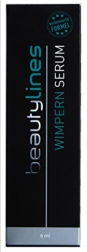 Beautylines Wimpern Serum 2.0 Verbesserte Formel, Wimpern-Augenbrauen-Booster Serum, 1er Pack (1 x 6ml)