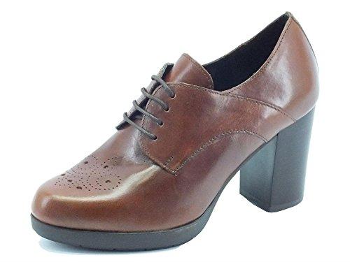 Scarpe Mercante di Fiori modello francesina in pelle marrone tacco alto (Taglia 37)