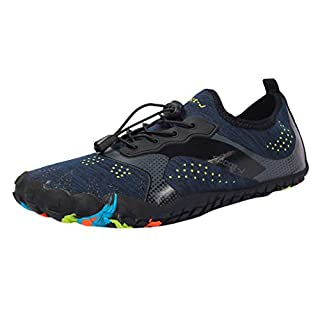 Water Shoes Mens Womens Quick Dry Sports Aqua Shoes Unisex Swim Shoes with 14 Drainage Holes for Swim,Walking,Yoga,Lake,Beach,Garden,Park,Driving,Boating Blue