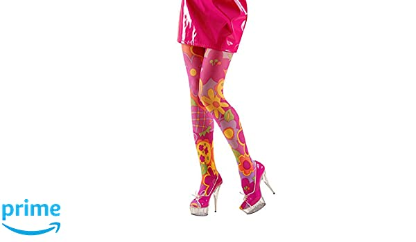 ba9eb1386de 70s Hippie Flower Power Tights Daisy Tights Panty Hose Ladies Fancy Dress  Costume Accessory  Amazon.co.uk  Toys   Games