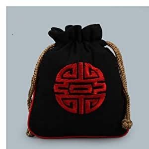 Generic As Picture : Chinese Silk Jewelry Pouch Display Packaging Pouch drawstring Gift Bag