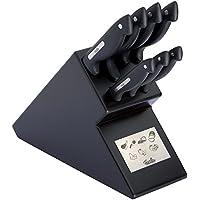 Fissler Messerblock signum Messerset Küche hochwertig / 8-teilig / Küchenmesserset schwarz / 080-066-08-009/0