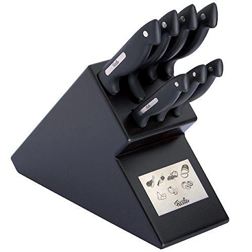 Fissler Messerblock signum Messerset Küche hochwertig / 8-teilig / Küchenmesserset schwarz / - 080-066-08-009/0