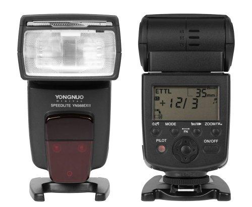 Yongnuo Speedlite YN-568 EX II Blitz - Master E-TTL HSS Blitzgerät für Canon EOS DSLR