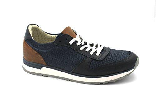 GRUNLAND ECCO SC3425 blu scarpe uomo sportive sneakers Blu