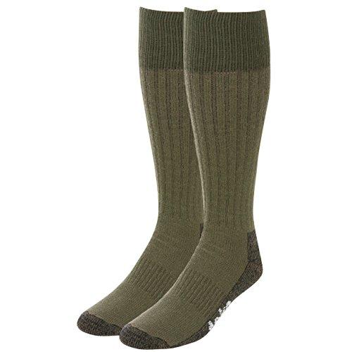 Teko Schwergewichts-Trekking Expedition Socken, Schwarz/Rot, M, 9907_olive_med (Wolle Thorlo Merino)