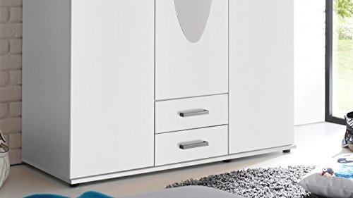 test stella trading paul 3 t riger kleiderschrank holz wei 55 x 120 x 195 cm g nstig shoppen. Black Bedroom Furniture Sets. Home Design Ideas