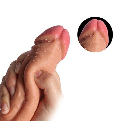 Pure Zwei-Layer-Silikon Dildo Soft Outside und Firm Inside Penis mit starken Saugnapf Real Dong Penis Nachbildung, Haut - 5