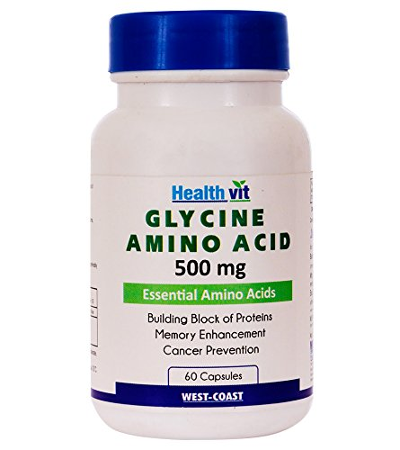 Healthvit Glycine Amino Acid 500 mg 60 Capsules  available at amazon for Rs.800