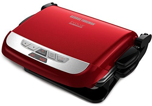 george-foreman-grp4842r-3-in-1-multi-plate-evolve-grill-grilling-and-waffle-plates-included-red-by-g