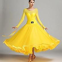 Perspective Engrener Épissure Femmes Robe de Danse Moderne Exécution Lait  de Soie Tulle Grande Balançoire Robes f359b33ce57d