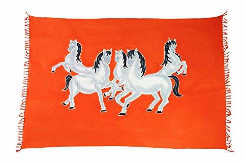 Ca 30 Modelle Sarong Pareo Wickelrock Standtücher Schals Handtuch aus der Serie Crazy Islands Riesen Auswahl Texas - Pferde