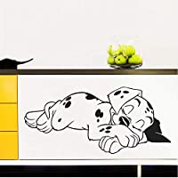 ylckady Sweet Dream Dalmatian Dogs Wall Stickers For Bedroom Pet Puppy Wall Decal Mural Poster Children Nursery Home Decor 57 * 26cm