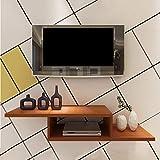 Regal Schwimmendes Regal Fernsehschrank Wand-Hintergrund Lagerregal für DVD/Blu-Ray-Player Satelliten-TV-Box Kabelbox (Farbe : A)