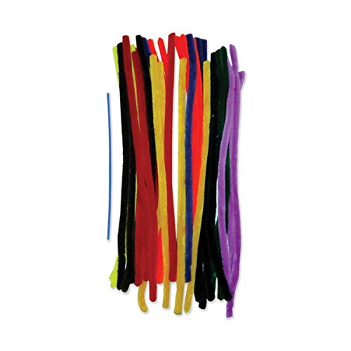 Creation Station 500 x 15 mm Extra Long Colossal Pipe Cleaners  Pack of 50  Assorted Colours