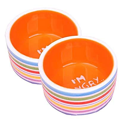 iuNWjvDU Pets Supplies Hamster Bowl Pattern Pet Ceramic Prevent Tipping Moving Bowl for Dogs Cats Pets Animals from iuNWjvDU