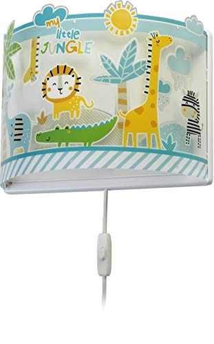 Dalber Lámpara Aplique Pared Infantil My Little Jungle, 60 W, Multicolor
