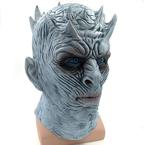 ZHANGDONGLAI Game of Thrones Halloween Maske Nacht King Walker Gesicht Night RE Zombie Latex Maske Erwachsene Cosplay Thron Kostüm Party Maske