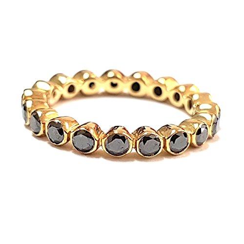 BuyFineDiamonds - Gold 9 Karat (375) 9 Karat (375) Gelbgold Brilliant Rund Black Diamant