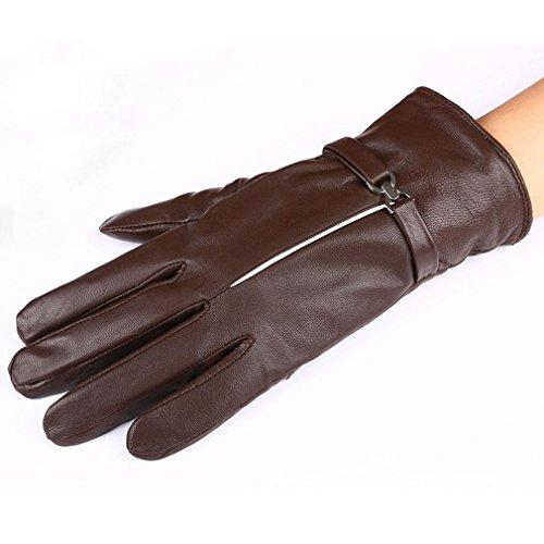 Mme peau de mouton cousue robe multicolore gants de gants chauds