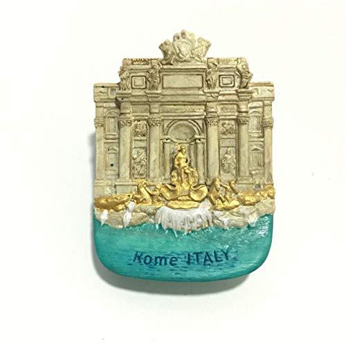 Bella Magnet Frigo Aimant Frigo Aimant Réfrigérateur Décor Voyage Vacances Souvenir de ItalieRome Trevi Fountain Fontaine de Trevi Fridge Magnet Sticker