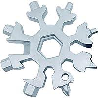 18-in-1 Edelstahl Multi-Tool, Snowboard Multi-Tool, Schraubendreher Werkzeug Dosenöffner Anti-verlorene Werkzeug Schlüsselanhänger Incredible Tool für militärische Enthusiasten und Outdoor-Tools