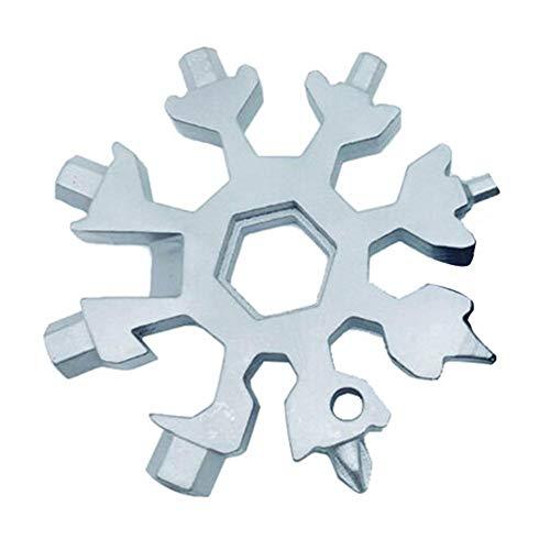 18-in-1-Multifunktionswerkzeug aus rostfreiem Stahl mit Mehrfachwerkzeug für den Schneeladenschlüssel, Ringschlüssel für Ringschlüssel mit sechs Schraubenschlüssel, geeignet für Militärfreunde und EDC