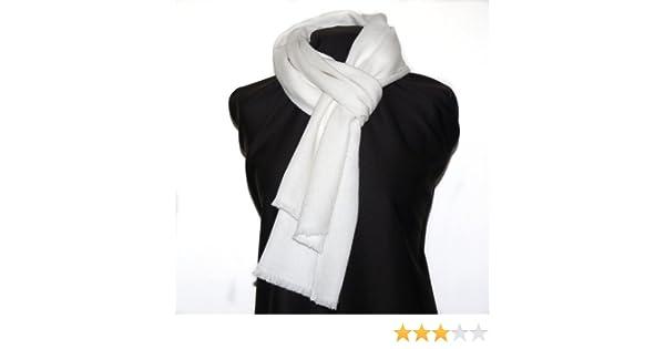 Écharpe homme en 100% cachemire - crème   blanc cassé  Amazon.fr  Vêtements  et accessoires c6cc82ed74c