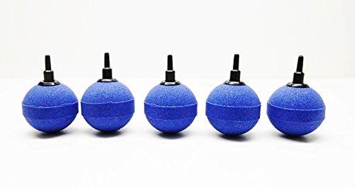 5 blaue Luftausströmer Kugeln Größe 5cm Luftstein Sauerstoffstein Sprudler