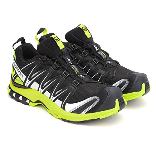 Salomon Herren Trail Running Schuhe, XA PRO 3D GTX, Farbe: schwarz/lime (Black/lime Green/ White) Größe: EU 43 1/3