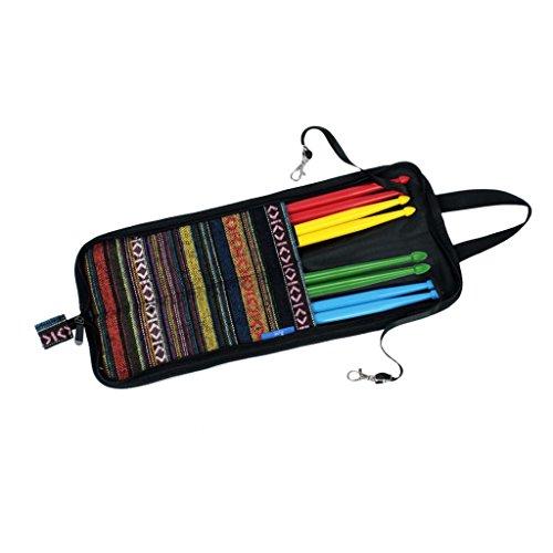 Dolity 4 Paar Drum Sticks inkl. Wasserdichte Sticktasche Drumstickbag Beutel, Bag mit Reißverschluss für Trommelstöcke Drum Sticks