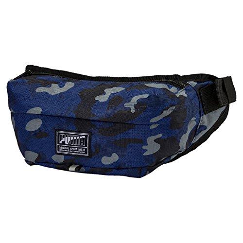 PUMA Academy Waist Bag Blue Depths-Camo AOP