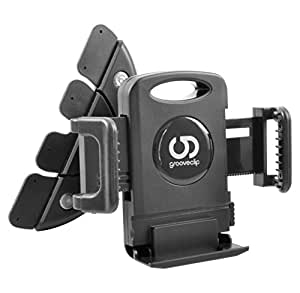 grooveClip Support auto universel pour portable, Smartphone & GPS - compatible iPhone 4 4S 5 5S 5C, Samsung Galaxy S4 S3 S2 / mini / Note II III, HTC One / mini, Sony Xperia Z1 Z, LG G2 / Nexus, Blackberry Z10, Nokia