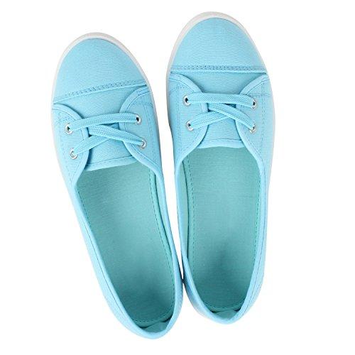 Ballerine Da Donna Sportive Comode Scarpe Basse In Tessuto Realizzate In Comodo Materiale Superiore 36-41 Azzurro
