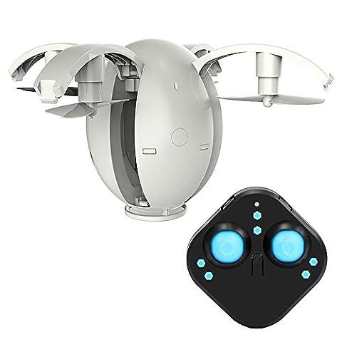 KaiDeng Mini Drohne Ei RC Quadrocopter mit Fernbedienung Pocket faltbare Arm Ei-förmiges Aussehen Kopflosen Modus CF Modus 360° Flip Funktion ohne Kamera Bestes Geschenk für Kinder (Weiß)