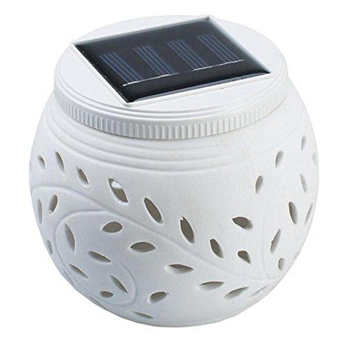 Q&D Bunte hohlkeramik solarleuchten dekorative solar rasen lampe keramik lampe nachtlicht
