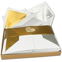Suchergebnis Auf Amazonde Für Einladungskarten Goldene