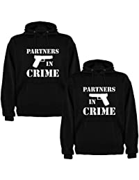 Pack de 2 Sudaderas Negras para Parejas Partners in Crime Blanco