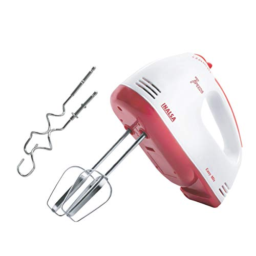 Inalsa Easy Mix 200-Watt Hand Mixer with 7 Speed (Red/White)