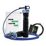 Springseil, Speed Jump Rope Trainingsguide & Ersatzkabel ideal für Cardio-, Box- & Fitnesstraining verstellbaren Stahlseil (3m) (Blau)