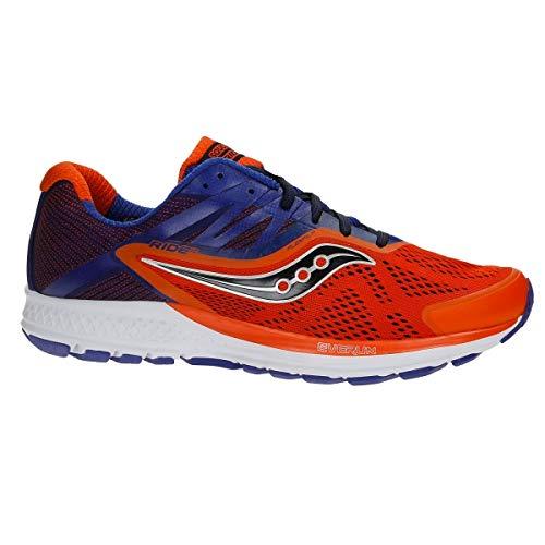 Saucony RIDE 10, Scarpe running uomo, Orange/Blue, 42 EU