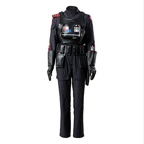 Star Wars Battlefront 2 II Iden Versio Inferno Squad Imperial Soldier Officer Cosplay Kostüm - Imperial Star Wars Kostüm
