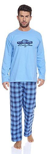 Cornette Herren Schlafanzug 124 2016 (Blau(Cadillac), - verschiedene Farben wählbar
