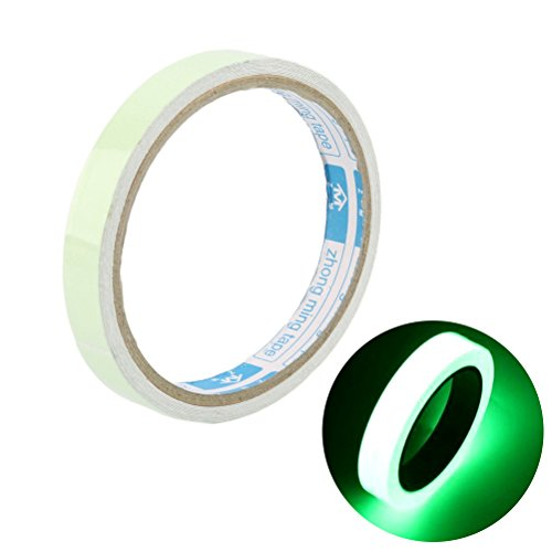 OUNONA Luminous Tape Sticker Fluorescent Emergency Roll Antideslizante  Amarilla en la Oscuridad Pegamento Alerta Tape Home Design Decals 300 x 2  cm