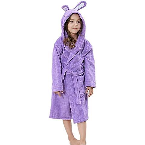 LIUDOUAlgodón toalla gruesa natación Albornoz Albornoz de los niños con capucha , 3# , 8a/130